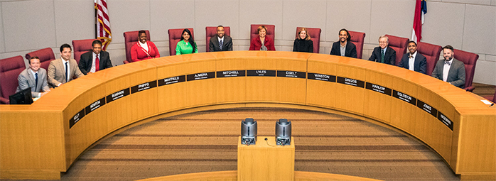 Charlotte City Council at the dais