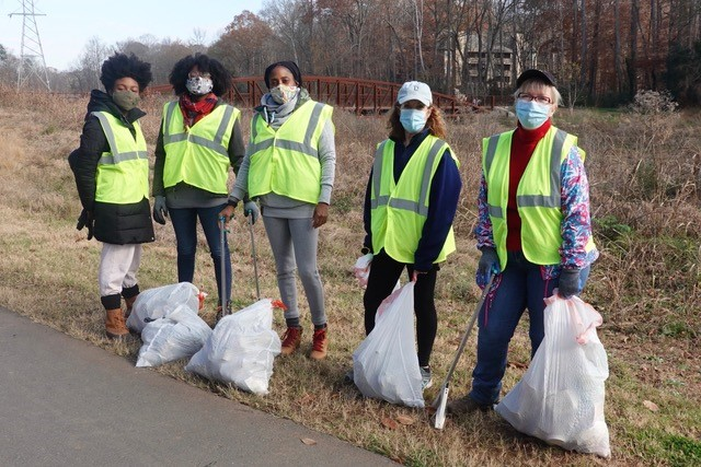 Park South Station Neighborhood Adopt-A-Stream volunteers.