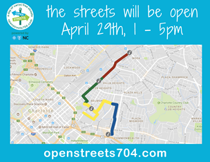 Open Streets 704 Spring 2018 route