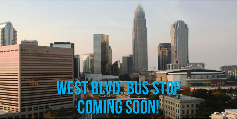West Blvd Bus Stop coming soon