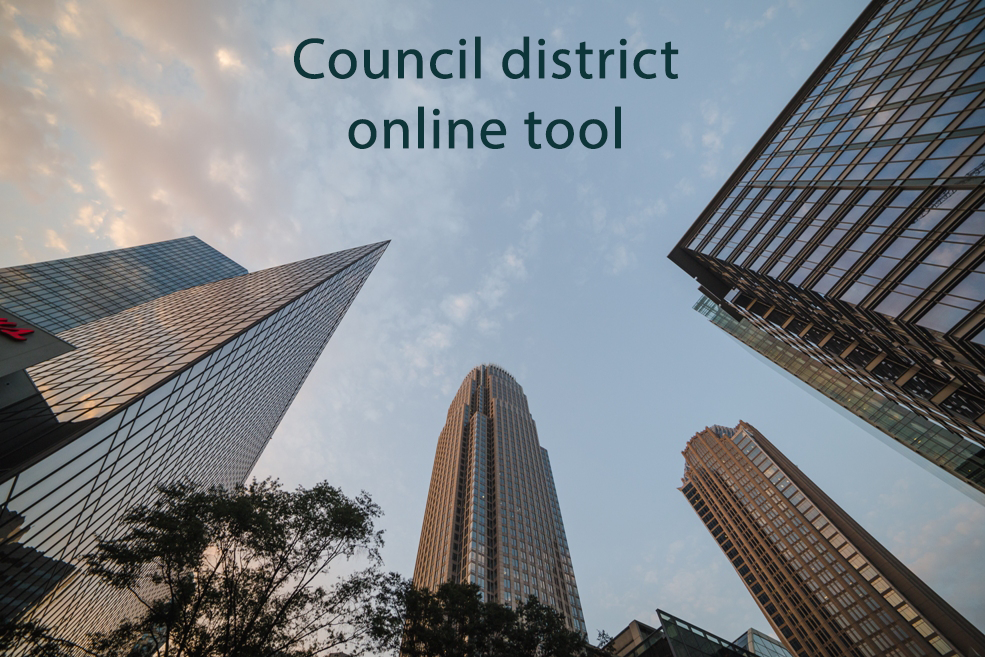 Council district online tool